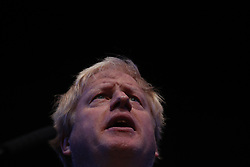 © Licensed to London News Pictures . 02/10/2018. Birmingham, UK. BORIS JOHNSON  at the conference . Day 3 of the Conservative Party conference at the ICC in Birmingham . Photo credit: Joel Goodman/LNP