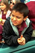Spectator age 6 at Cinco de Mayo festival.  St Paul Minnesota USA