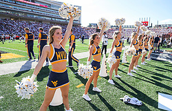 Sep 4, 2021; College Park, Maryland, USA; West Virginia Mountaineers cheerleaders perform during the second quarter against the Maryland Terrapins at Capital One Field at Maryland Stadium. Mandatory Credit: Ben Queen-USA TODAY Sports