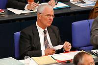25 SEP 2003, BERLIN/GERMANY:<br /> Manfred Stolpe, SPD, Bundesverkehrsminister, waehrend der Bundestagsdebatte zur aktuellen lage im Irak, Plenum, Deutscher Bundestag<br /> IMAGE: 20030925-01-058