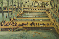 California: San Francisco. Historic poster of Sutro Baths at Cliff House Restaurant at Ocean Beach. Photo copyright Lee Foster. Photo #: 25-casanf75873