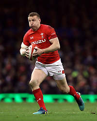 Wales' Hadleigh Parkes during the NatWest 6 Nations match at the Principality Stadium, Cardiff