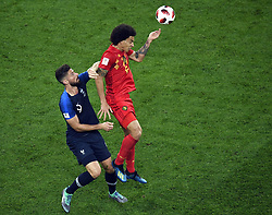 July 10, 2018 - Saint-Petersburg, RUSSIA - France's Olivier Giroud and Belgium's Axel Witsel pictured in action during the semi final match between the French national soccer team 'Les Bleus' and Belgian national soccer team the Red Devils, in Saint-Petersburg, Russia, Tuesday 10 July 2018. ..BELGA PHOTO LAURIE DIEFFEMBACQ (Credit Image: © Laurie Dieffembacq/Belga via ZUMA Press)