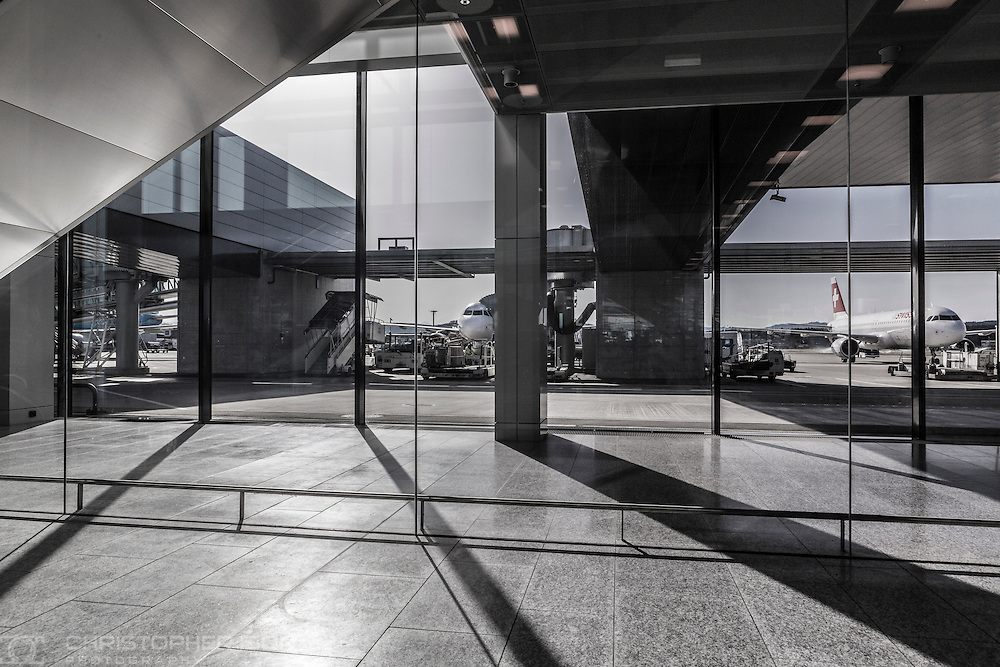 Zurich Airport, Switzerland.<br /> Picture date: Monday February 22, 2016.<br /> Photograph by Christopher Ison ©<br /> 07544044177<br /> chris@christopherison.com<br /> www.christopherison.com