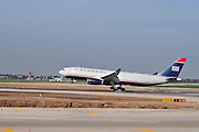 Israel, Ben-Gurion international Airport US Airways Passenger Jet landing
