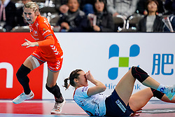06-12-2019 JAP: Norway - Netherlands, Kumamoto<br /> Last match groep A at 24th IHF Women's Handball World Championship. / The Dutch handball players won in an exciting game of fear gegner Norway and wrote in the last group match at the World Handball  World Championship history (30-28). / Estavana Polman #79 of Netherlands