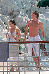 Michelle Rodriguez and Jordan Barrett at the Eden Roc hotel as part of the 2019 Cannes Film Festival in Antibes, France, on May 22, 2019. Photo by Thibaud Moritz/ABACAPRESS.COM