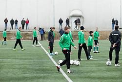 Blaz Bozic of NK Olimpija Ljubljana exercise during the first day of team Spring Training on January 7, 2013 in Ljubljana, Slovenia. (Photo By Vid Ponikvar / Sportida.com)