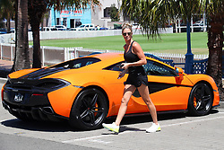 EXCLUSIVE: Love in the fast lane! Candice Warner and Husband David Warner enjoy a morning ride in a McLaren on Valentine's Day!. 14 Feb 2018 Pictured: David Warner; Candice Warner. Photo credit: KHAPGG / MEGA TheMegaAgency.com +1 888 505 6342