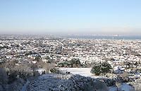 View of Dublin city from Dalkey Hill Dublin Ireland November 2010