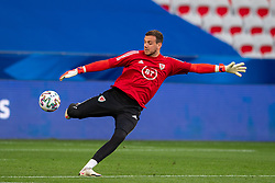 NICE, FRANCE - Wednesday, June 2, 2021: Wales' goalkeeper Daniel Ward during the pre-match warm-up before an international friendly match between France and Wales at the Stade Allianz Riviera ahead of the UEFA Euro 2020 tournament. (Pic by Simone Arveda/Propaganda)