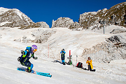 Ilka Stuhec and in background Darja Crnko and Tilen Lamut during spring practice session of Meta Hrovat and Ilka Stuhec on May 18, 2020 in Kanin, Bovec, Slovenia. Photo by Matic Klansek Velej / Sportida