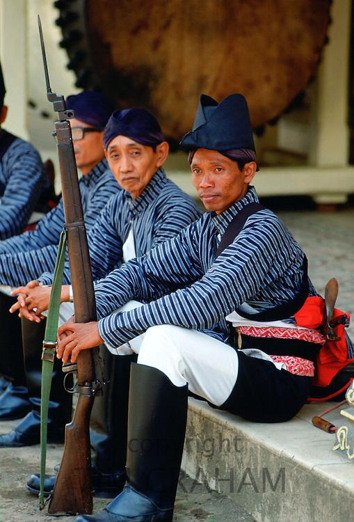 Guards at the Sultan's Palace at Yogyakarta, Indonesia