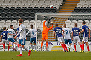 GOAL! - Russia open the scoring from a long way out, Vadim Konyukhov beats Jamie Smith (Hamilton Academical) in the top corner during the U17 European Championships match between Scotland and Russia at Simple Digital Arena, Paisley, Scotland on 23 March 2019.
