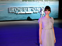 Felicity Jones attending the premiere of Rogue One: A Star Wars Story at the Tate Modern, London. PRESS ASSOCIATION Photo. Picture date: Tuesday December 13, 2016. See PA story SHOWBIZ Rogue One. Photo credit should read: Ian West/PA Wire
