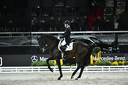 KLIMKE Ingrid (GER), Franziskus <br /> Stuttgart - German Masters 2019<br /> Preis der Firma Stihl<br /> Int. Dressurprüfung - CDI4*<br /> Aufgabe: FEI Grand Prix 2009, Rev. 2014<br /> Qualifikation zum Grand Prix Special<br /> 16. November 2019<br /> © www.sportfotos-lafrentz.de/Karl-Heinz Frieler