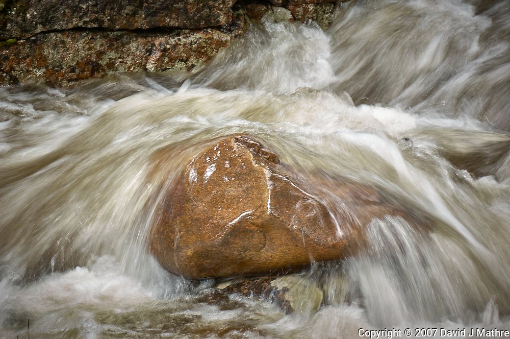 Running water. Stream in Rocky Mountain National Park. Image taken with a Nikon D2xs camera and 105 mm f/2.8 VR macro lens.