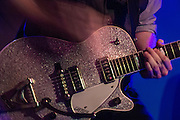 Calin Nanney playing his Gretsch electric guitar with Jessica Long & The New Kind at King's Barcade, Raleigh, NC