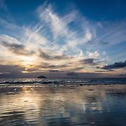 Last light, Girvan beach, Ayrshire, Scotland.