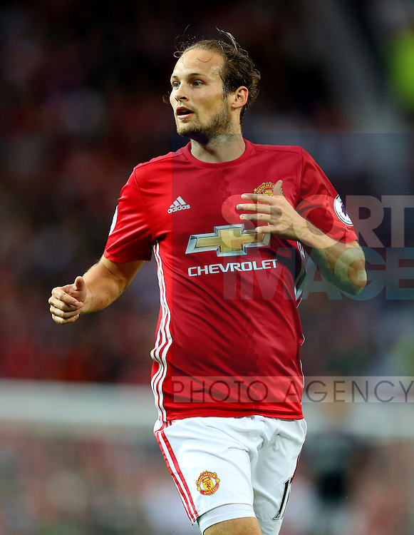 Daley Blind of Manchester United during the Premier League match at the Old Trafford Stadium, Manchester. Picture date: August 19th, 2016. Pic Simon Bellis/Sportimage