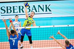 Tine Urnaut of Slovenia during friendly volleyball match between Slovenia and Serbia in Arena Stozice on 2nd of September, 2019, Ljubljana, Slovenia. Photo by Grega Valancic / Sportida