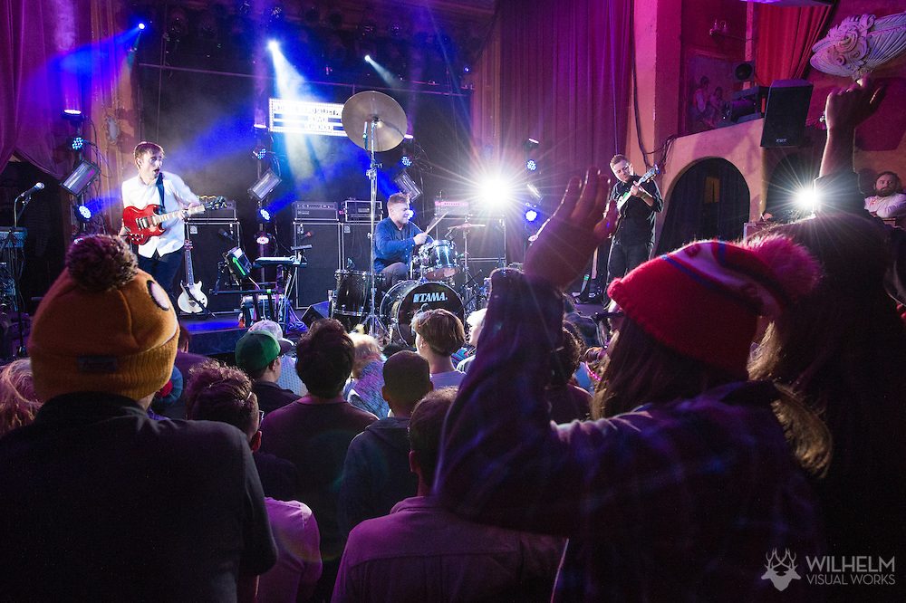 Battles performs at Red Bull Sound Select Presents Denver at the Bluebird Theater in Denver, CO, USA, on 17 Decembert, 2015.