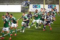 Loic Perrin / Tongo Doumbia - 28.02.2015 - Toulouse / Saint Etienne - 27eme journee de Ligue 1 -<br />Photo : Manuel Blondeau / Icon Sport