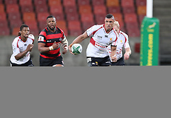 Ball carrier Bobby de Wee of Golden Lions during the Currie Cup Premier Division match between the Eastern Province Kings and The Lions held at the Nelson Mandela Bay Stadium in Port Elizabeth, South Africa on the 24th September 2016<br /><br />Photo by: Richard Huggard / Real Time Images