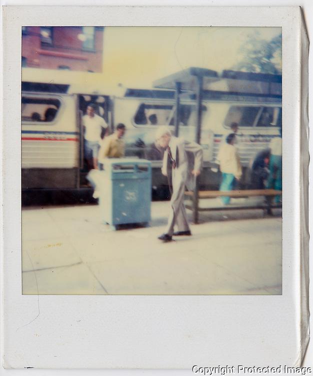Found Photograph, Streets of Wshington DC, 1986