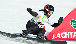 Gloria Kotnik of Slovenia competes during Ladies' Parallel Giant Slalom at FIS World Championships of Snowboard and Freestyle, on January 23, 2015 at the WM Piste in Kreischberg, Austria. Photo by Vid Ponikvar / Sportida