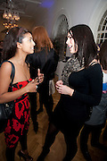 KONNIE HUQ; SUSIE AMY, KONNIE HUQ, Elemis 20th Anniversary in partnership with Mothers4Children charity. Party to celebrate 20 years in business and to raise money for Mothers4children and new product launches. One Marylebone. London. 2 February 2010.
