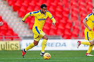 Wimbledon midfielder Tom Soares (19) in action  during the EFL Sky Bet League 1 match between Doncaster Rovers and AFC Wimbledon at the Keepmoat Stadium, Doncaster, England on 17 November 2018.