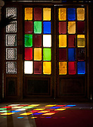 Stained Glass windows of Mehrangarh fort - Rajasthan Jodhpur India 2011
