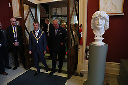 The Prince of Wales (right) as he attends a dinner at Crawford Art Gallery as part of his tour of the Republic of Ireland with the Duchess of Cornwall. PRESS ASSOCIATION Photo. PRESS ASSOCIATION Photo. Picture date: Thursday June 14, 2018. See PA story ROYAL Charles. Photo credit should read: Brian Lawless/PA Wire