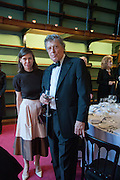 LADY SARAH CHATTO; SIR TOM STOPPARD, The London Library Annual  Life in Literature Award 2013 sponsored by Heywood Hill. The London Library Annual Literary dinner. London Library. St. james's Sq. London. 16 May 2013.