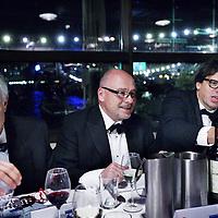 Nederland, Amsterdam , 2 november 2013.<br /> 1 van de aanwezigen van de hockey veteranen bijeenkomst in de IJkantine in amsterdam Noord die zou spreken over de toekomst van de nieuwe generatie sport is voormalige schaatser Johan Olaf Kos. (r) In het midden Maurits Hendriks, technisch directeur van NOC*NSF. Links Jan Albers, voorzitter Nederlandse Hockeybond<br /> Foto:Jean-Pierre Jans