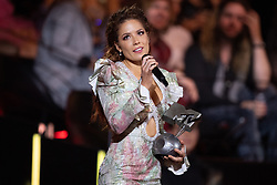 Halsey receives the Best Pop Award on stage during the MTV EMAs 2019 at FIBES Conference and Exhibition Centre on November 03, 2019 in Seville, Spain.<br /> Photo by David Niviere/ABACAPRESS.COM