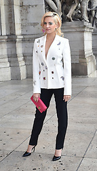Schiaparelli Fashion show arrivals in Paris. 21 Jan 2019 Pictured: Oliver Cheshire, Pixie Lott, Lottie Moss. Photo credit: Neil Warner/MEGA TheMegaAgency.com +1 888 505 6342