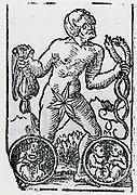 Planetary figure of Mercury. From 'Sphaera mundi', Strasburg, 1539.