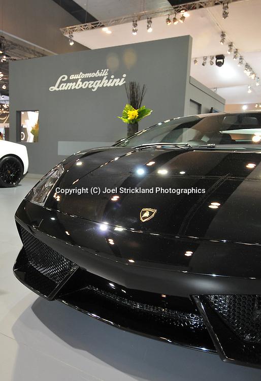 Lamborghini Stand.Media Preview .Melbourne International Motorshow.Melbourne Exhibition Centre.Clarendon St, Southbank, Melbourne .Friday 27th of February 2009.(C) Joel Strickland Photographics.