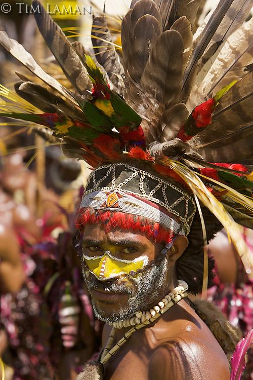 Villager in Goroka, Eastern Highlands Province, Papua New Guinea.