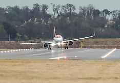 High Winds at Airport, Edinburgh, 7 January 2020