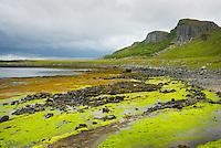 Low tide along the Eastern shore of Isle of Skye Scotland