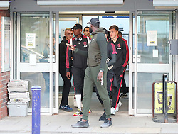 Manchester United's Paul Pogba, Victor Lindelof, Matteo Darmian and Luke Shaw all got off the train at Wilmslow Station after their defeat to West Ham United