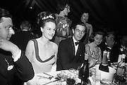 Le Bal des Petits Lits Blancs at Powerscourt, Co. Wicklow. Lady and Mr. Wardell..04.07.1965