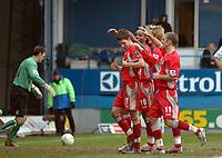 Photo: Kevin Poolman.<br />Luton Town v Blackburn Rovers. The FA Cup. 27/01/2007. Matt Derbyshire (no 27) front celebrates Blackburn's third goal.