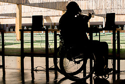 Franc Pinter - Anco of Slovenia during Qualification of R7 - Men's 50m Rifle 3 Positions SH1 on day 5 during the Rio 2016 Summer Paralympics Games on September 12, 2016 in Olympic Shooting Centre, Rio de Janeiro, Brazil. Photo by Vid Ponikvar / Sportida