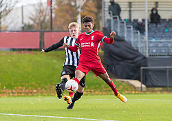 KIRKBY, ENGLAND - Saturday, October 31, 2020: Liverpool's Melkamu Frauendorf during the Under-18 Premier League match between Liverpool FC Under-18's and Newcastle United FC Under-18's at the Liverpool Academy. Liverpool won 4-1. (Pic by David Rawcliffe/Propaganda)