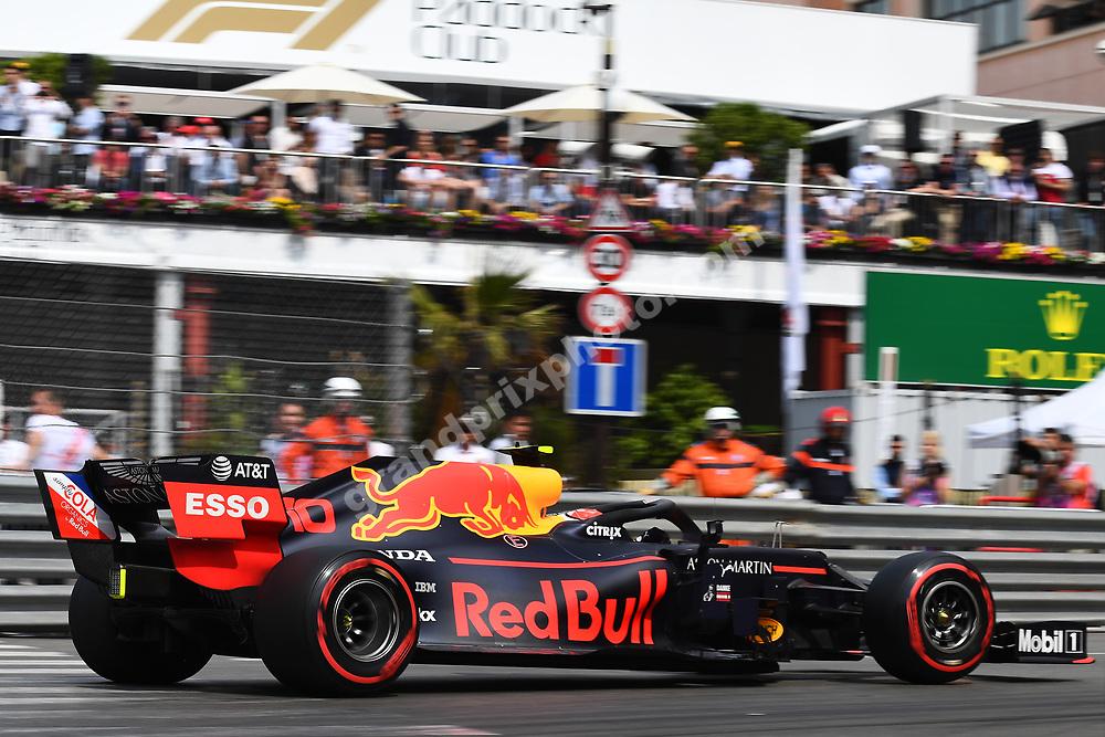 Pierre Gasly (Red Bull-Honda) during qualifying before the 2019 Monaco Grand Prix. Photo: Grand Prix Photo