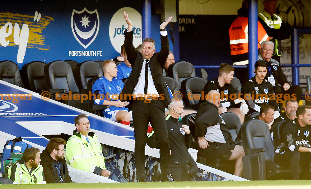 Doncaster manager Darren Ferguson during the Sky Bet League 2 match between Portsmouth and Doncaster Rovers at Fratton Park in Portsmouth. October 1, 2016.<br /> Simon  Dack / Telephoto Images<br /> +44 7967 642437